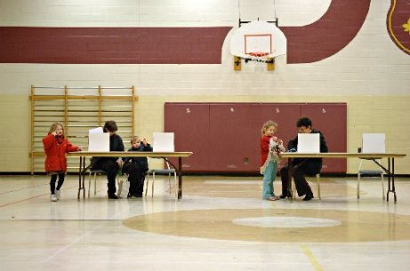 The type of gym where blog post author Jeff Mahoney sometimes votes. Spectator Files