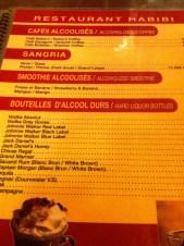 Habibi Hookah Lounge...the photo didn't get in the 'arak' part of the menu