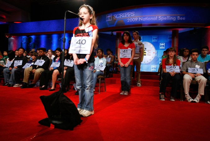 Students Compete For Honors At National Spelling Bee