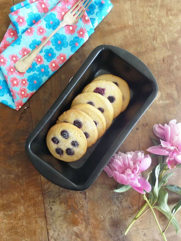 Blueberry Spelt Butter Cookies (from scratch)