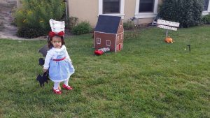 Avery as Dorothy for Halloween