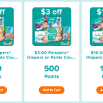 Pampers – New High Value Coupons Available For Reward Points