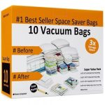 10 Space Saver Bags for Reusable Vacuum Storage $15.99