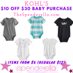 Kohl's Baby Sale – $10 off $30 Purchase Promo Code