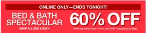 Macy's 1 Day Sale – Take an Extra 60% Off Bed & Bath Spectacular