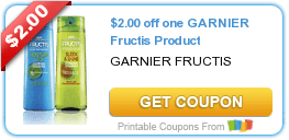 RUN – High Value $2/1 Garnier Fructis Hair Coupon