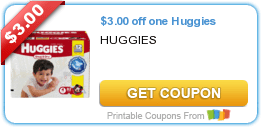 High Value $3/1 Huggies Diapers Coupon