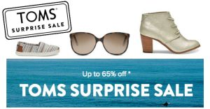Toms Shoes Surprise Sale – Up to 65% Off