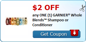 $2/1 Garnier Whole Blends Shampoo or Conditioner & More Coupons