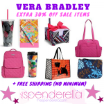 Vera Bradley – Extra 30% Off Sale Items + FREE Shipping (No Minimum)