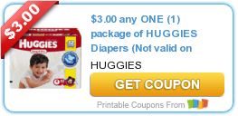 $3/1 Huggies Diapers, $2/1 Tide Pods, $7/2 Schick Razors & More Coupons