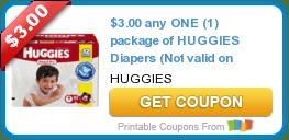$3/1 Huggies Diapers, $2/1 Tide Pods, $7/2 Schick Razors & More Coupons