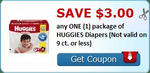 & $3/1 Huggies Diapers, $.50/1 Huggies Wipes, Kebbler, Kellogg's & More Coupons