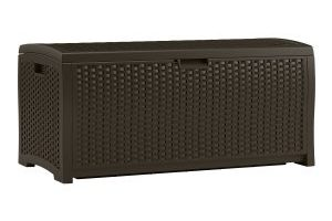 Suncast 73 Gallon Mocha Wicker Resin Deck Box $68.06 Shipped (Regular $149.99)