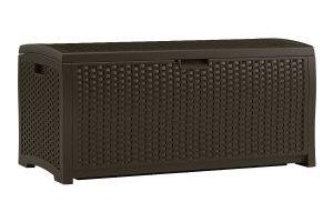 Suncast 73 Gallon Mocha Wicker Resin Deck Box $68.06 Shipped (Regular $149.99)