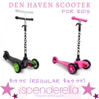 Den Haven Scooter for Kids $19.95 (Regular $49.99)