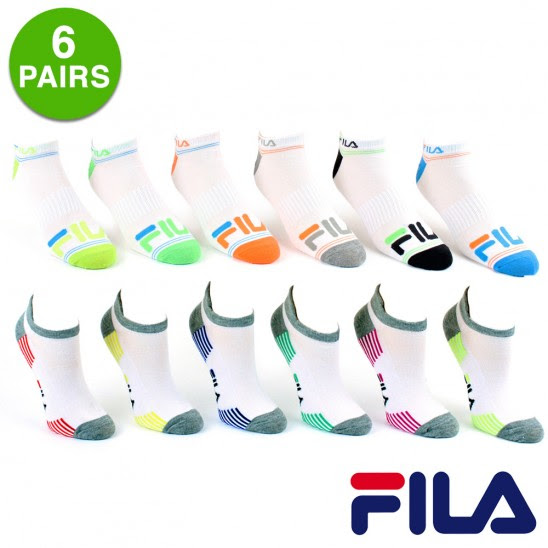 6 Pairs of Fila Shock Dry® Low Cut Athletic Socks $5.99