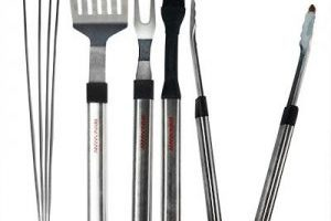 8-Piece Brinkmann Stainless Steel BBQ Set $12.99 Shipped!
