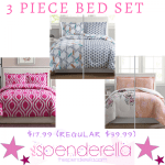 3 Piece Reversible Bed Set $17.99 (Regular $39.99)
