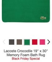 Lacoste Memory Foam Bath Rugs $12.99 (Regular $40.00)