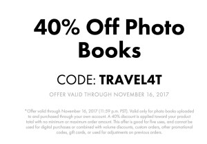 + Score an 40% off when you use promo code TRAVEL4T by November 16th. Total after promo code for 20 pages = $30!