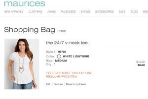 Maurices – Score 50% Off One Item + FREE Shipping – Get a Tee for $9 Shipped!