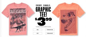 The Children's Place – $3.99 Graphic Tees (Regular $10.50) + FREE Shipping