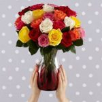 2 Dozen Flowers plus Vase as low as $15.97 Shipped – Great for Mother's Day