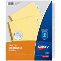 Avery 8-Tab Binder Dividers $0.65 - Great for Back to School Shopping!