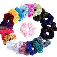 20 Girls Velvet Elastic Ponytail Scrunchies Hair Ties Holders  $4.85 + FREE Shipping