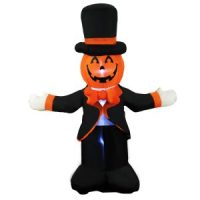 4 Ft Halloween Inflatable Pumpkin Gentlemen Decoration $16.99