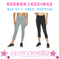 Reebok Capri Leggings $12.25 + FREE Shipping