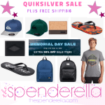 Quiksilver Memorial Day Sale – Backpacks $16.09, Wallets $12.59, Sandals $7.69 & More