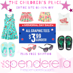 The Children's Place Memorial Day Sale Up to 80% off + FREE Shipping
