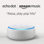 Amazon Echo Dot + One Month Amazon Music Unlimited $8.98 ($60 Value)