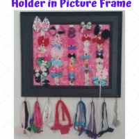 DIY - Girls Hair Bow Holder in Picture Frame Craft