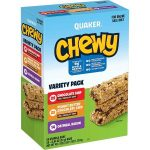 Pack of 58 Quaker Chewy Granola Bars $7.86 = $0.13 each Bar
