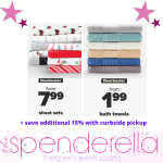 Bed Sheets from $7.99 and Bath Towels from $1.99 + Save additional 15% with Curbside Pickup!