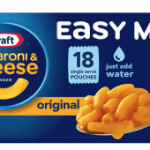 Kraft Easy Mac Macaroni and Cheese 18 Pouches $5.98  – Stock up price!