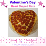 Valentine's Day Heart Shaped From Scratch Homemade Pizza