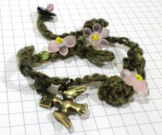 Detail views of the sakura bracelet.
