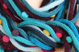 Spaghetti scarf, fabric detail