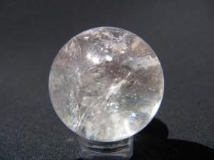 Spheres: Bi-Color Morganite sphere Gemstone from Brazil