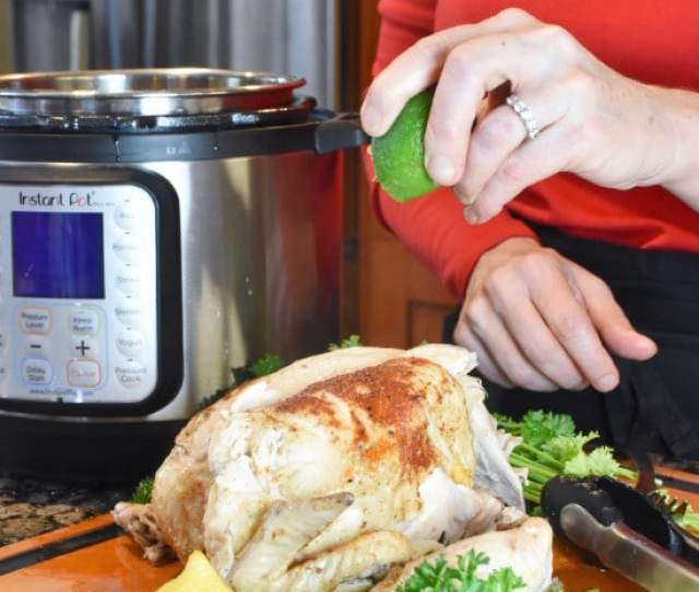 Instant Pot Whole Chicken Vertical With Lime