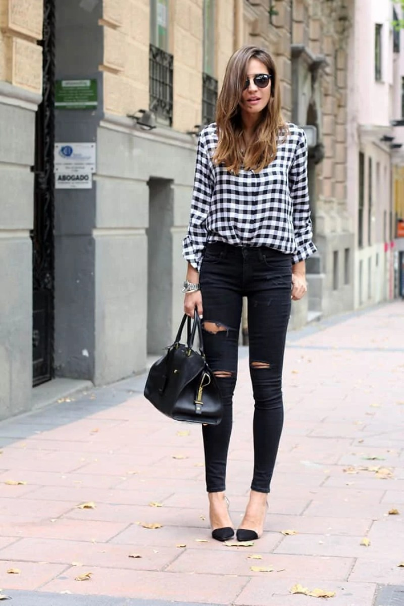 how we wore it: black and white | via The Spirited Violet