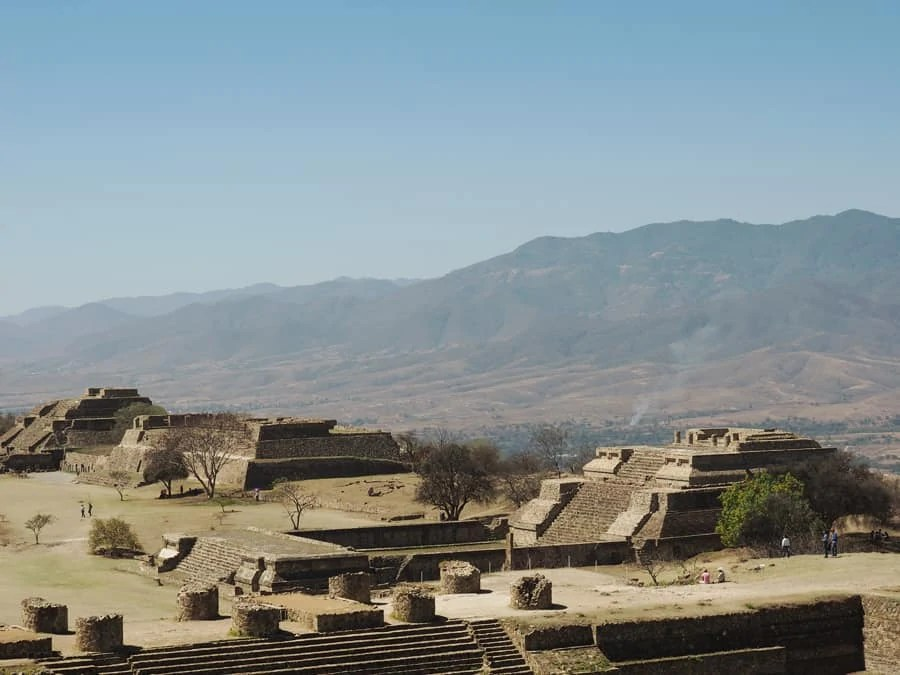 Monte Albán archaeological site: Monte Albán was once the economic center for Mesoamerica for 1,000 years. The site is breathtaking and definitely one to see in Mexico! | via The Spirited Violet