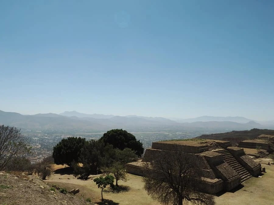 Monte Albán archaeological site: The stairs were created to be very steep in order for people to crawl in submission to their God's. Even for short people now, there is still a little bit of that! | via The Spirited Violet