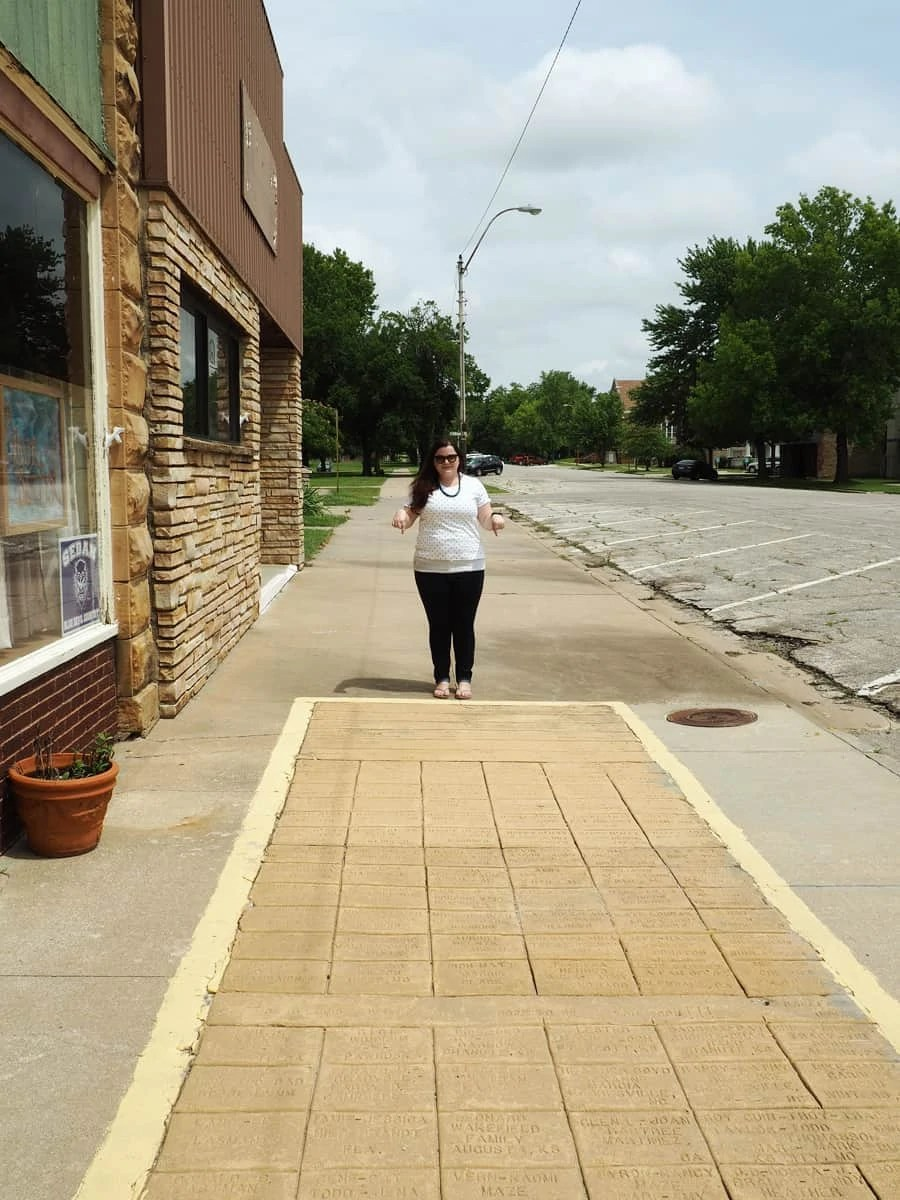 The yellow brick road in Sedan, Kansas has over 10,000 bricks with people's name on it. This is a fun roadside trip for people who are a fan of Oz. | via The Spirited Violet
