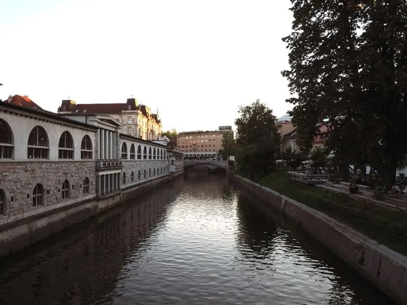 The view from Butcher's Bridge in Ljubljana, Slovenia. | via The Spirited Violet