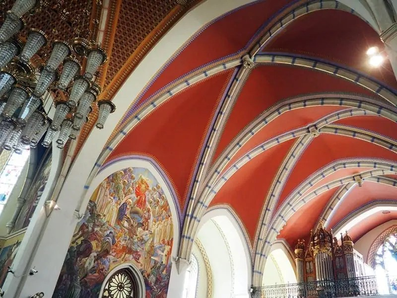 Saint Martin's Parish church in Bled, Slovenia was built in 1903-1905, but that didn't stop it from having beautiful artwork and gothic ceilings to look at for free. | via The Spirited Violet